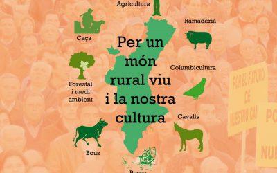 Manifestación 26-M Valencia en defensa del mundo rural